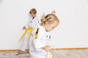 Kindergruppe beim Üben